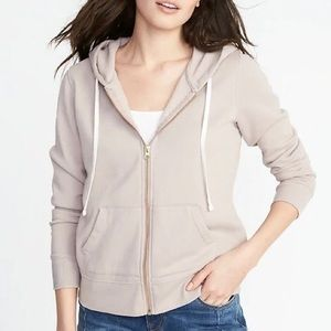 Old Navy Relaxed Zip-Up Hoodie - Soft Pink (NWT)